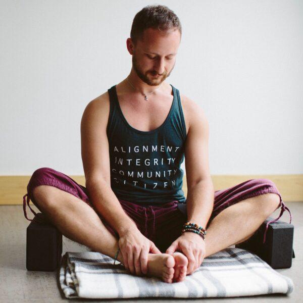 Nick Zamboroski meditating