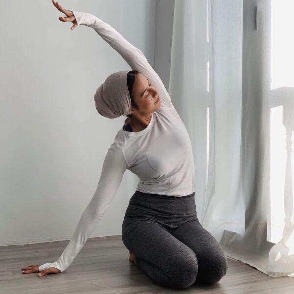 Singaporean yoga instructor, Hanan Algasoff