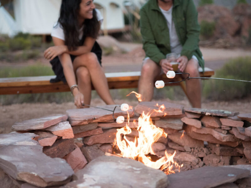 Roasting marshmellows at Zion