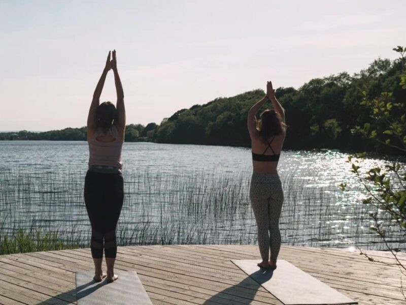 Yoga at the lake in Ireland